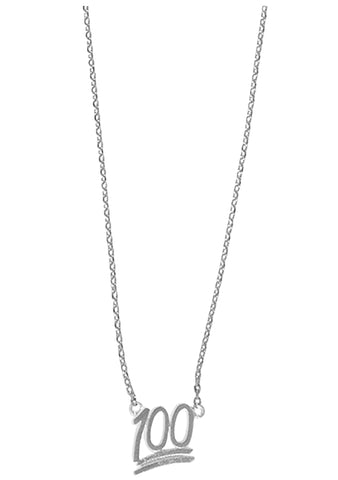 Wanderlust + Co Emoji 100% Necklace in Silver