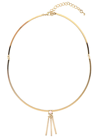 Wanderlust + Co Ava Choker in Gold/Rose