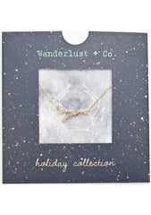 Wanderlust + Co Cancer Cosmic Necklace in Gold