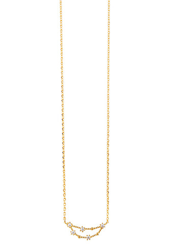 Wanderlust + Co Capricorn Cosmic Necklace in Gold