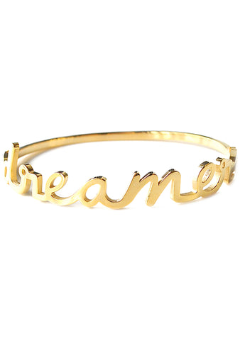 Wanderlust + Co Dreamer Bangle in Gold
