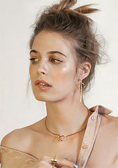 Wanderlust + Co Full Circle Earrings in Gold