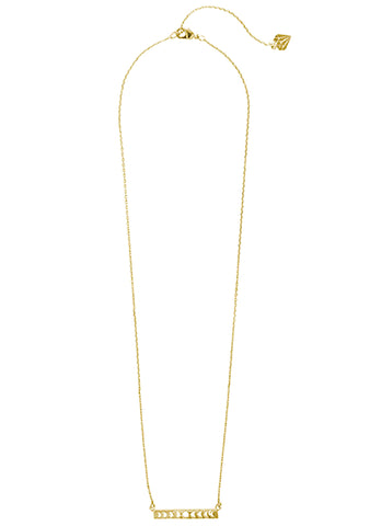 Wanderlust + Co Full Moon Bar Necklace in Gold