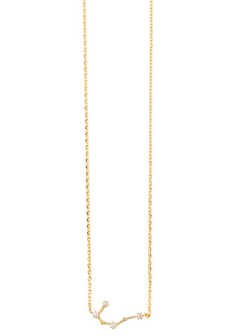 Wanderlust + Co Gemini Cosmic Necklace in Gold