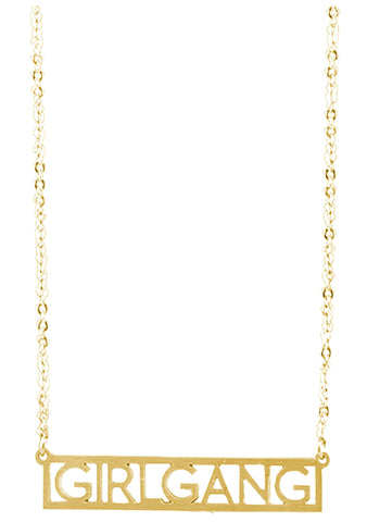 Wanderlust + Co Girlgang Necklace in Gold