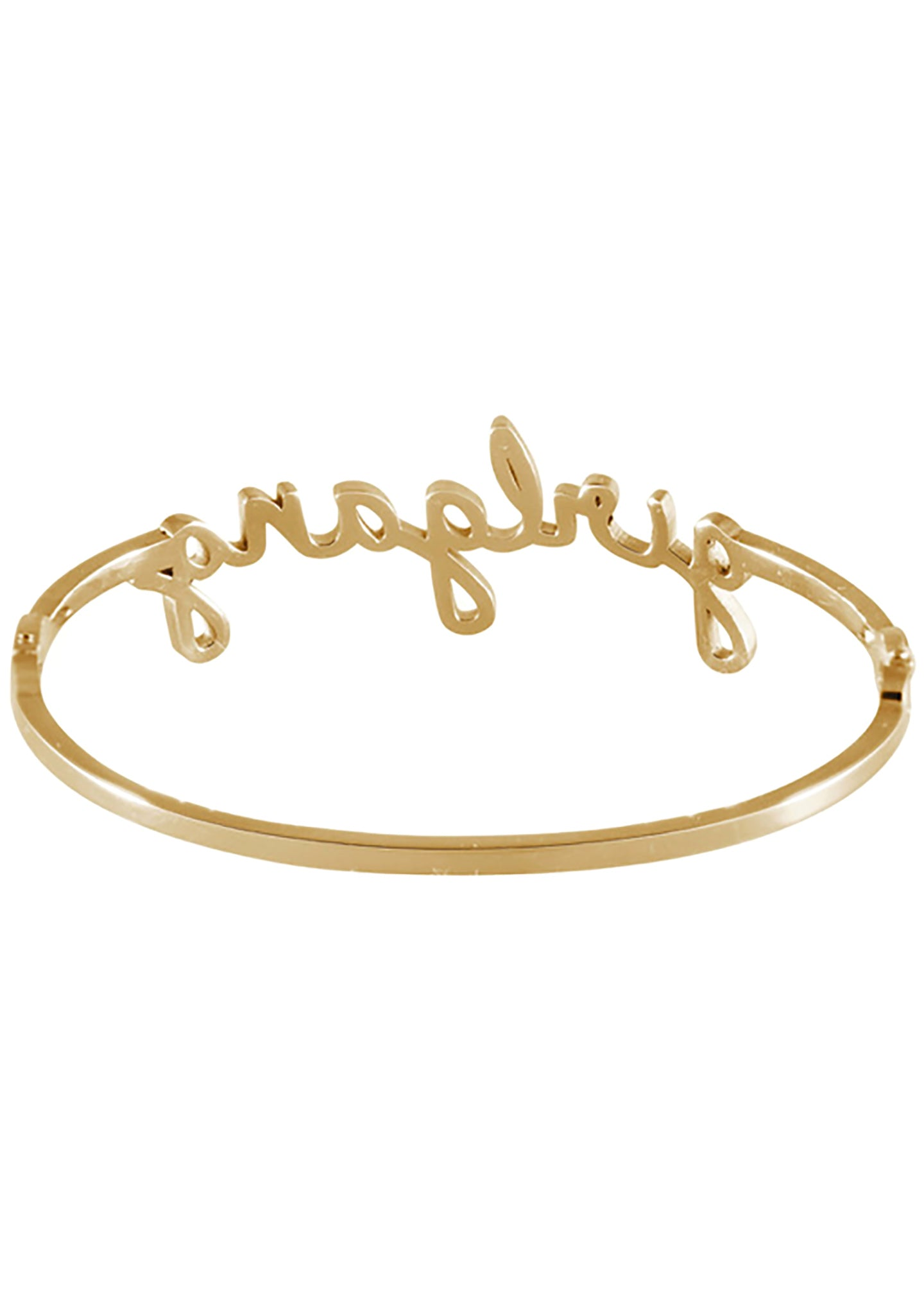 Wanderlust + Co Girlgang Bangle in Gold