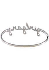 Wanderlust + Co Girlgang Bangle in Silver