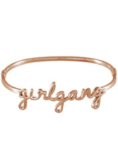Wanderlust + Co Girlgang Bangle in Rose Gold