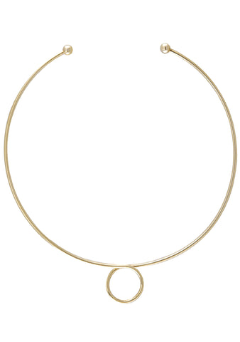 Wanderlust + Co Loop Choker in Gold