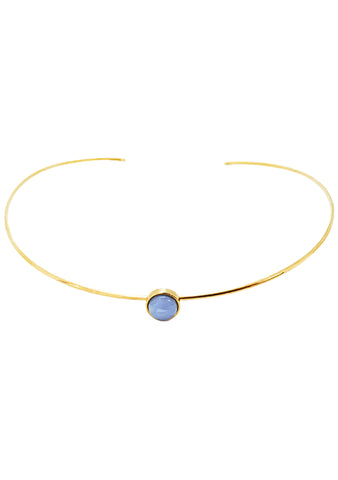 Wanderlust + Co Mia Choker in Gold/Sky