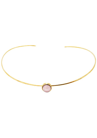 Wanderlust + Co Mia Choker in Gold/Rose