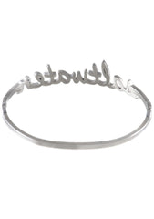 Wanderlust + Co Saltwater Bangle in Silver
