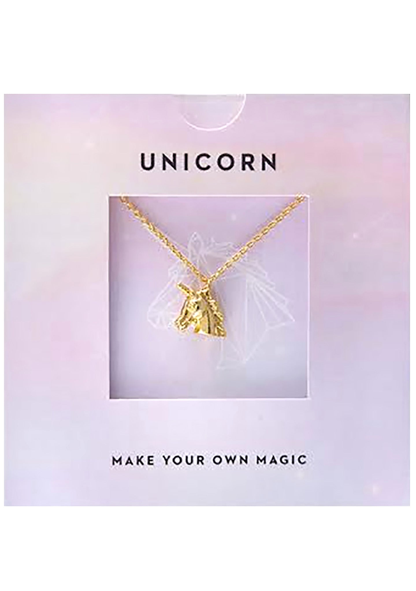 Wanderlust + Co Emoji Unicorn Necklace in Gold