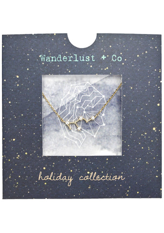 Wanderlust + Co Virgo Cosmic Necklace in Gold