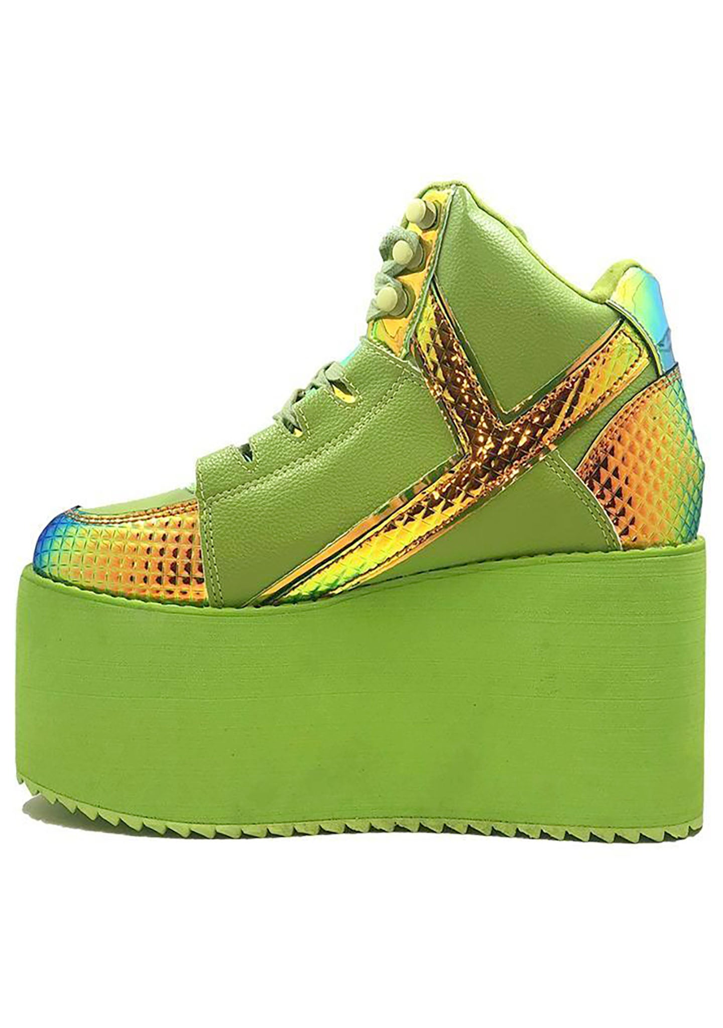 YRU Qozmo Hi Monster Platform Sneakers