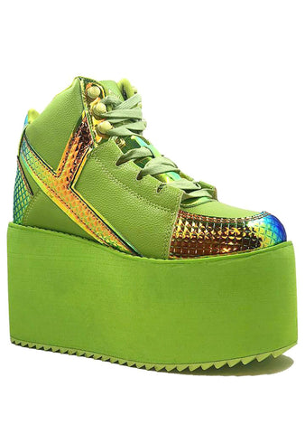 Y.R.U. Qozmo Hi Monster Platform Sneakers