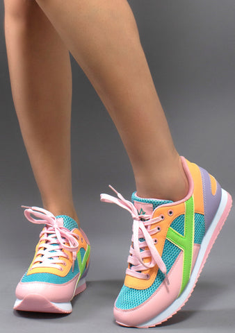 Y.R.U. Flash Sneakers in Multicolor Pastel