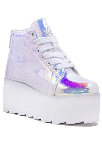 Lala Hi Platform Sneakers in Atlantis