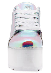Y.R.U. Lala Hologram Platform Sneakers in Atlantis