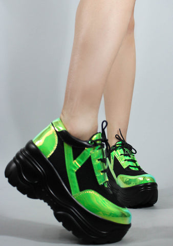 Matrixx Sneakers in Green Atlantis