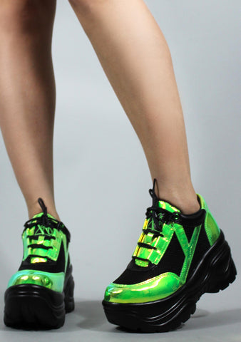 Y.R.U. Matrixx Sneakers in Green Atlantis