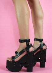 Y.R.U. Nightcall Platform Heels in Black