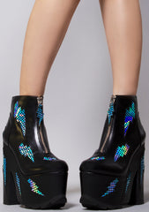 Nightmare Electric Bolt Platform Boots