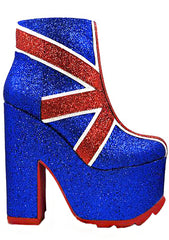 Nightmare Union Jack Platform Boots