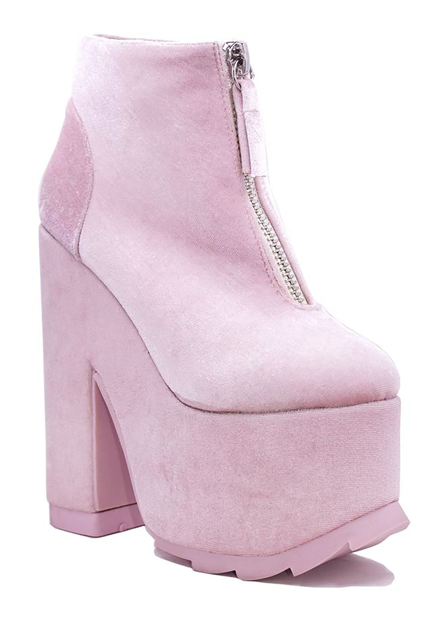 b22bd207d306d Y.R.U. | Shop Y.R.U. Nightmare Boots in Pink Velvet at LAStyleRush ...