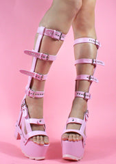 Nightcall Hi Platform Heels in Pink