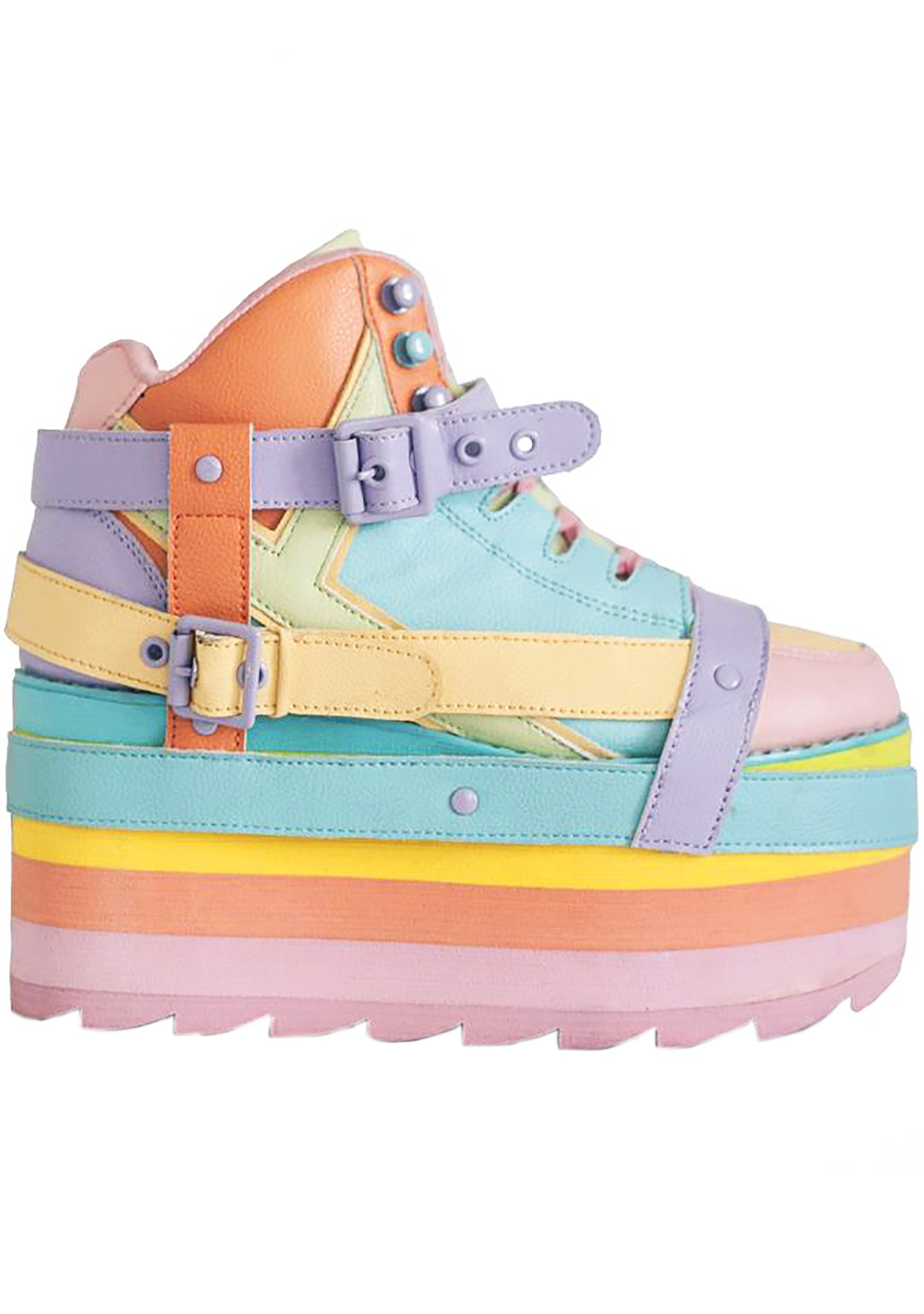 Qozmo Bondage Love Honey Pastel Platform Sneakers