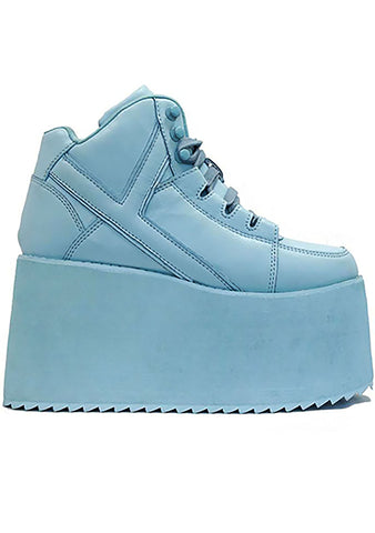 Y.R.U. Qozmo Hi Platform Sneakers in Blue