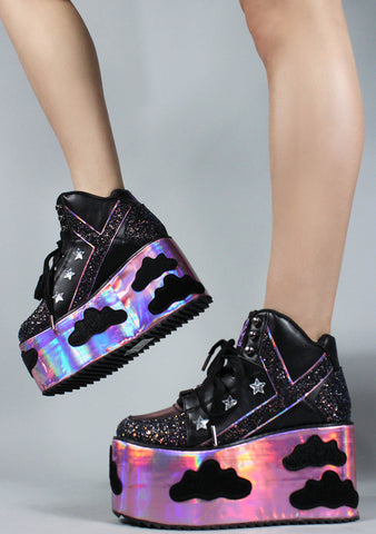 Qozmo Night Sky Sky Platform Sneakers