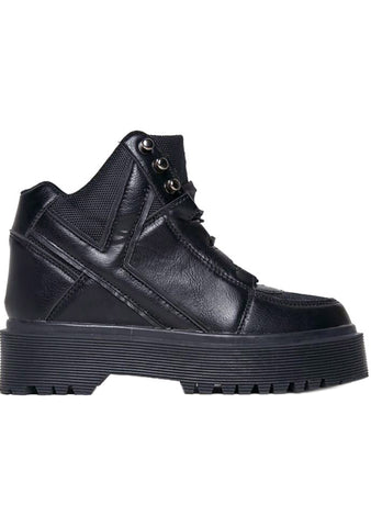 Y.R.U. Qozmo Slayr Military Boots in Black