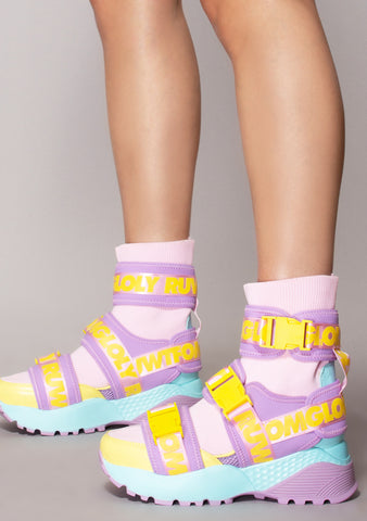 Teq Good Vibrations Pastel Knit Sneakers