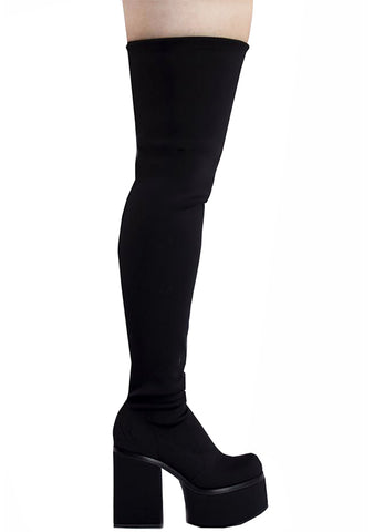 Y.R.U. Vida Hi Platform Boot in Black