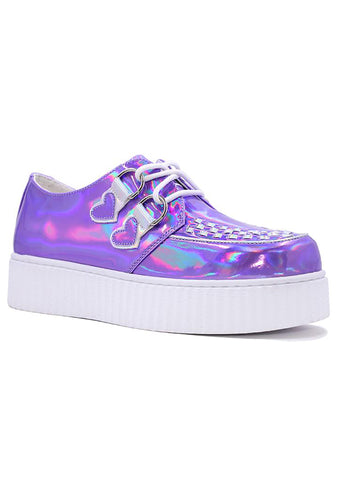 Krypt Kreeper Purple Hologram Sneakers
