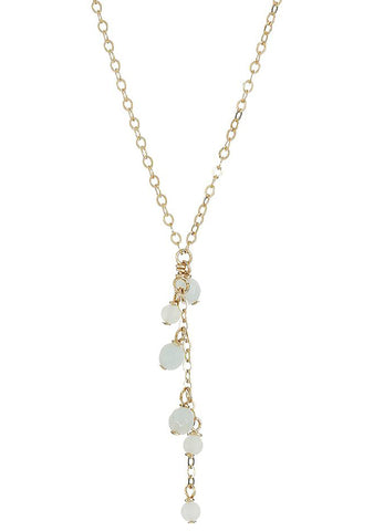 DOGEARED The Mermaid Falling Amazonite Cluster Necklace