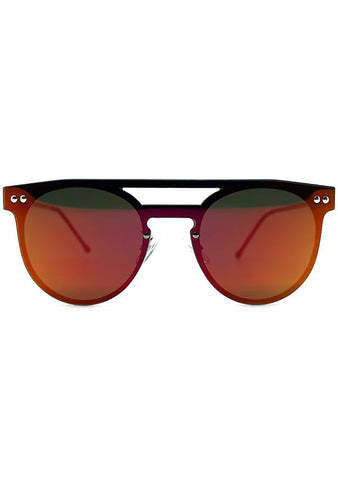 Spitfire Prime Sunglasses in Silver/Red
