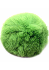 7 LUXE Single Puff Ball Pin Clip in Green