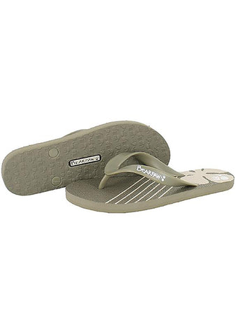 Bearpaw Aaliyah Soft Rubber Floral Flip Flop Sandal in Flax