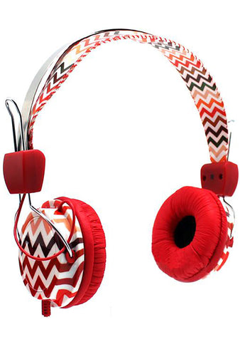 Sunset Zig Zag Stereo Headphones