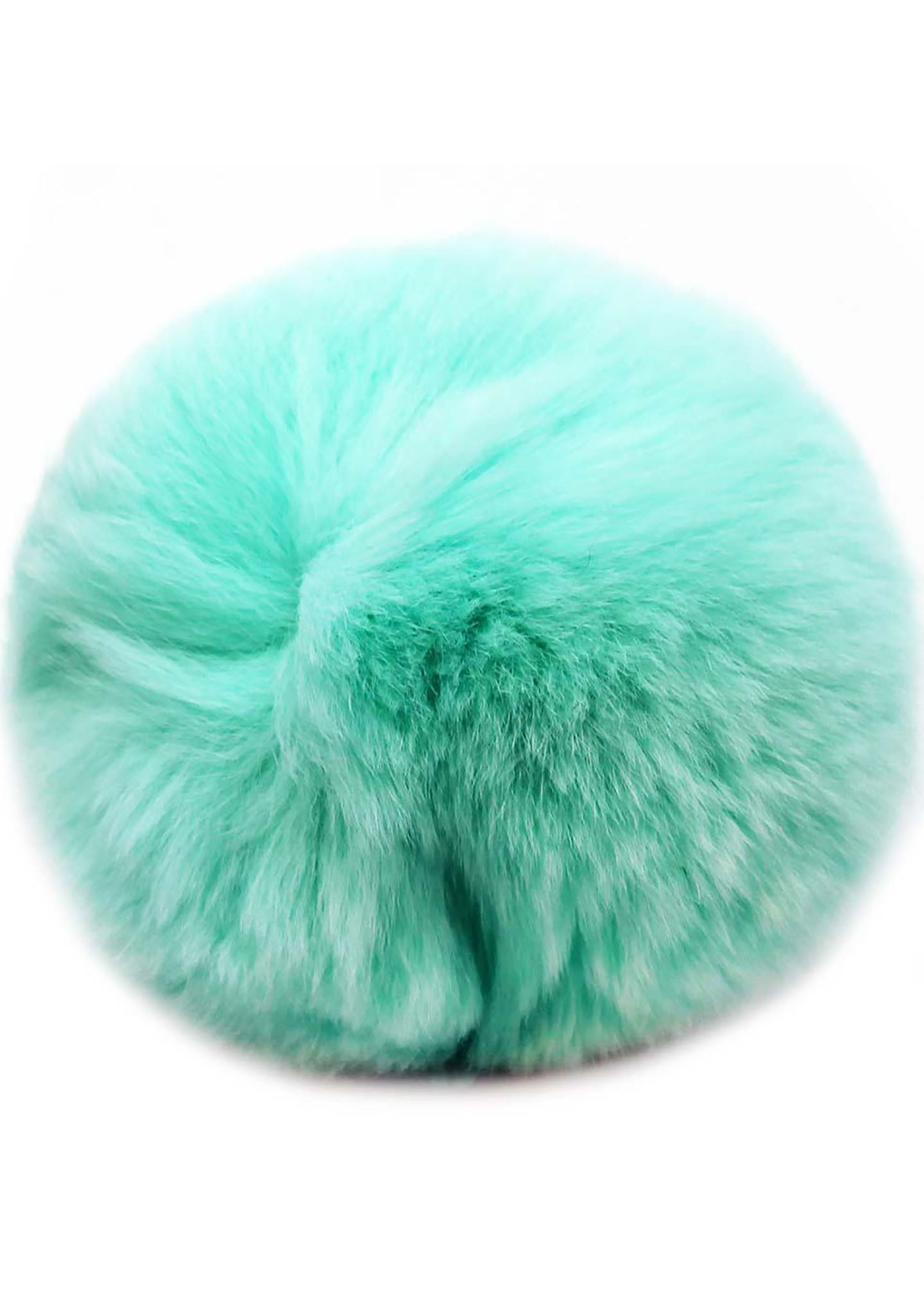 7 LUXE Single Puff Ball Pin Clip in Aqua