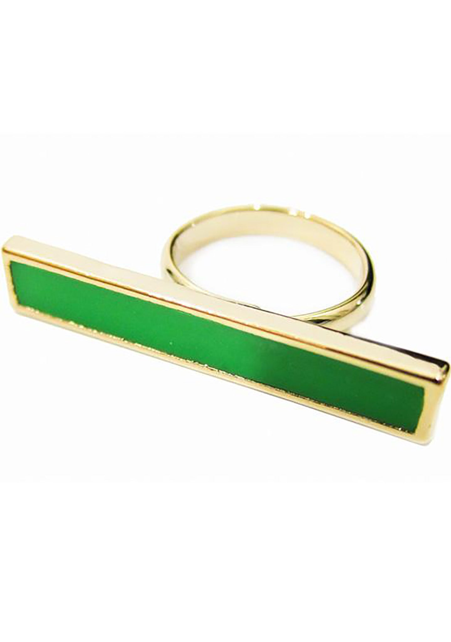 FASHô Neon Bar Ring in Neon Green