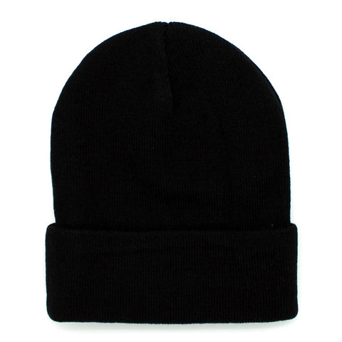 Psycho Bunny Basic Knit Beanie Hat in Black