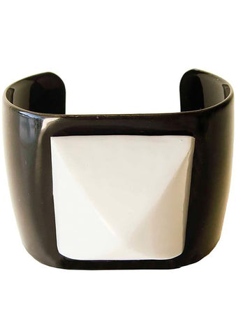 Marley B. Parker Large Pyramid Stud Cuff in Black/Grey