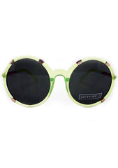 Spitfire Gypsy Moth Sunglasses in Neon Yellow