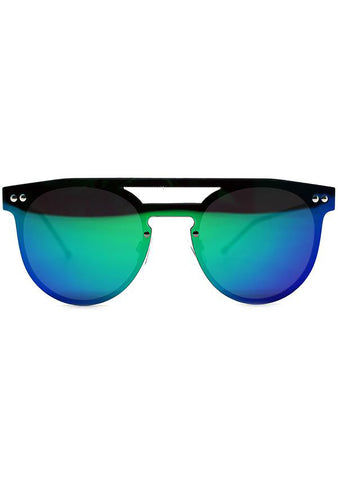 Spitfire Prime Sunglasses in Silver/Green