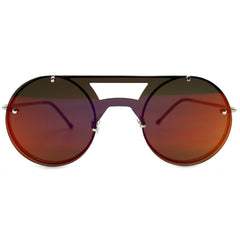 Spitfire Algorithm Sunglasses in Silver/Red