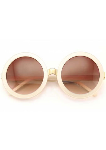 Sun Malibu Sunglasses in Pearl White